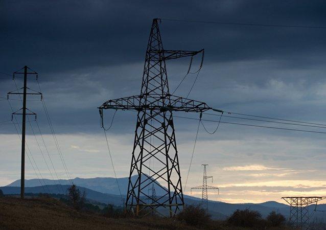 Líneas de la transmisión eléctrica de Crimea