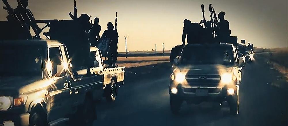 Yihadistas del grupo terrorista Daesh (archivo; captura de pantalla)