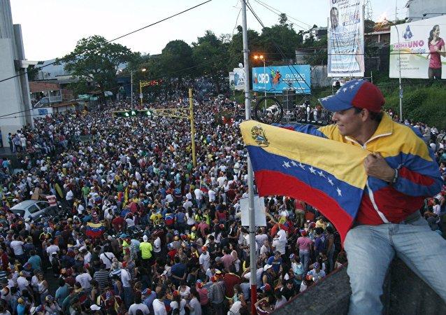 Simpatizantes de la oposición venezolana (archivo)