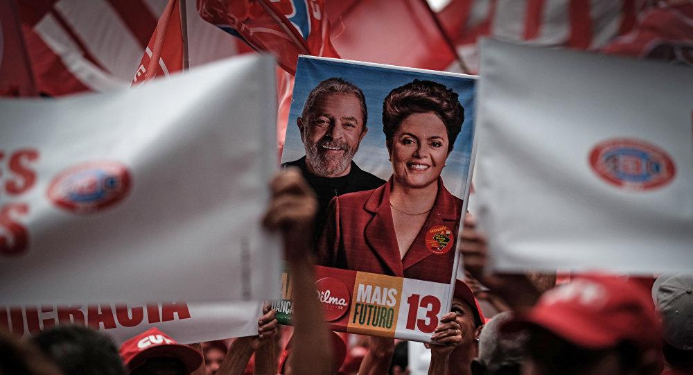 Manifestación en contra del impeachment a presidente de Brasil, Dilma Rousseff