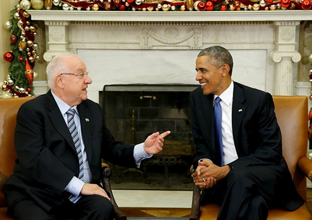 Presidente de Israel, Reuven Rivlin, y presidente de EEUU, Barack Obama