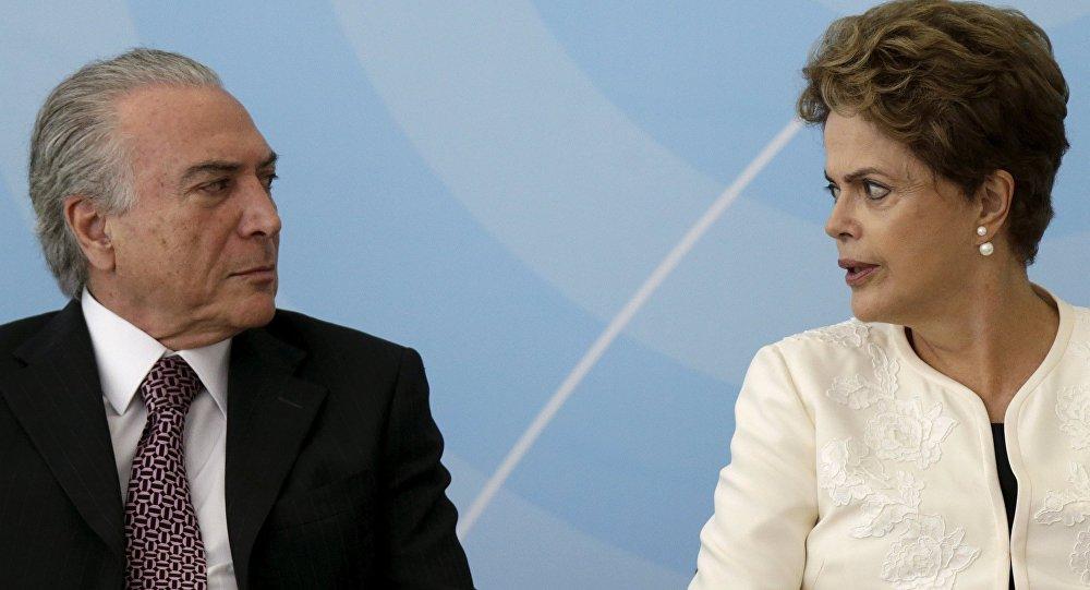 El presidente de Brasil, Michel Temer, y la expresidenta Dilma Rousseff