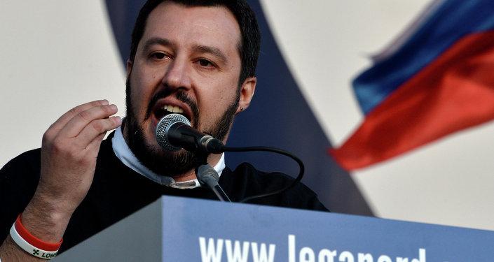 Matteo Salvini, líder del partido opositor italiano Liga Norte