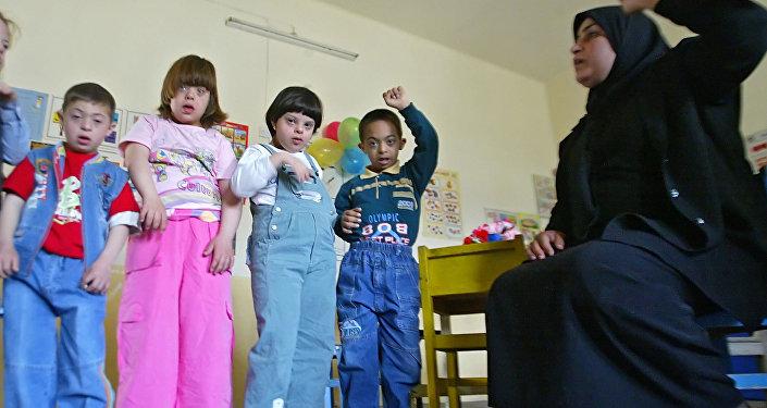 Niños iraquíes con síndrome de Down
