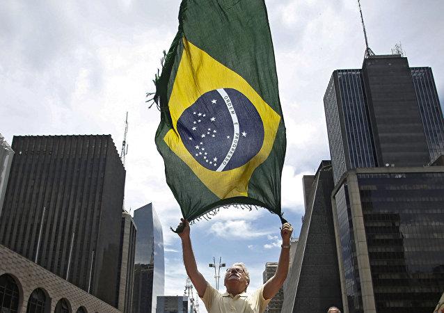 La bandera de Brasil (archivo)