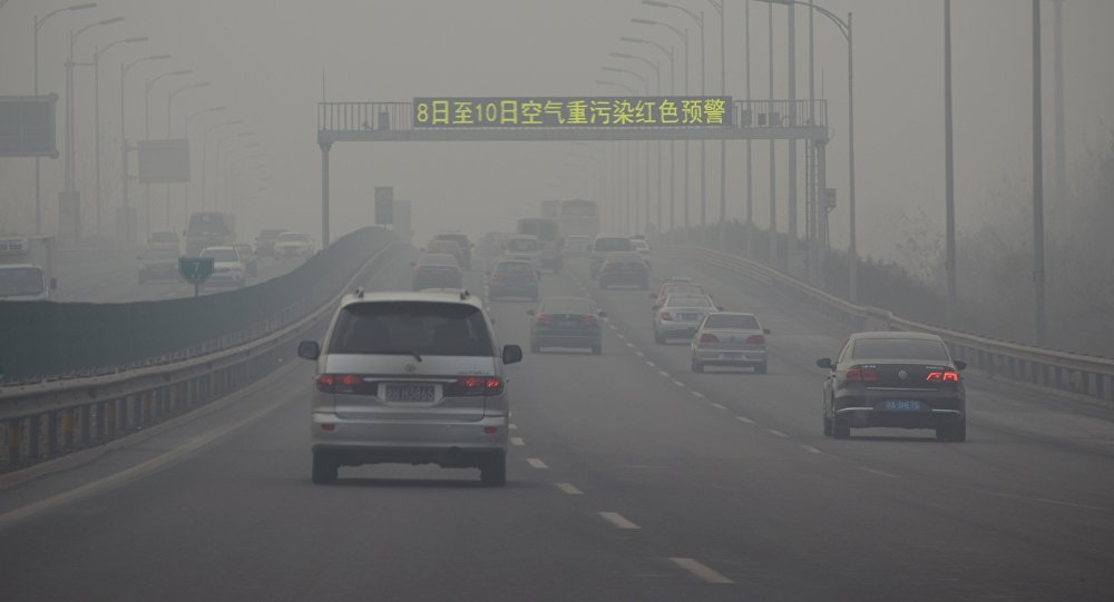 Contaminación de aire en China