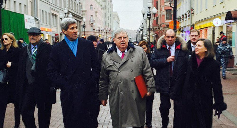 Secretario de Estado, John Kerry, durante su visita a Rusia