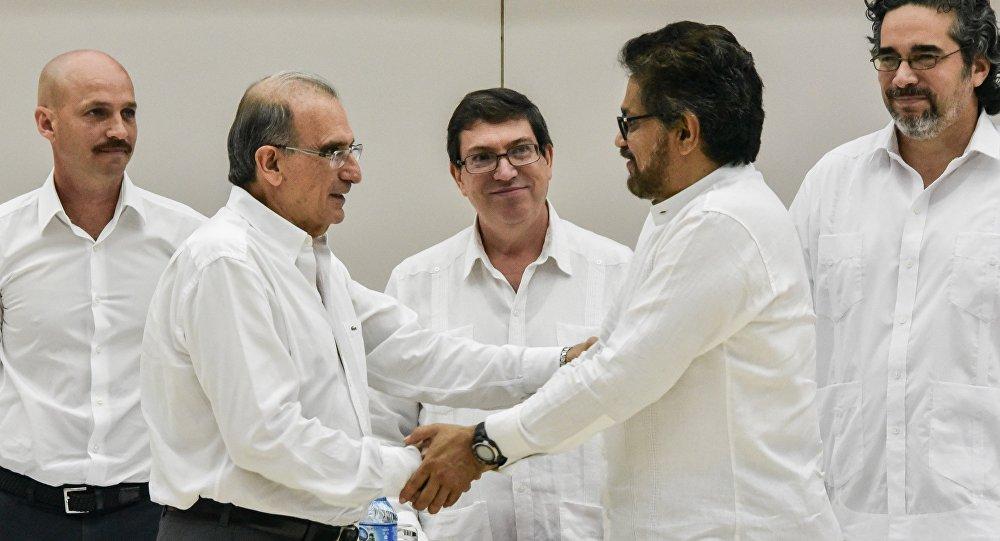 Negociaciones de paz entre las FARC y Colombia en La Habana, Cuba (archivo)