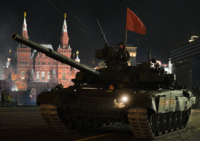 Ensayo del desfile militar ruso (archivo)