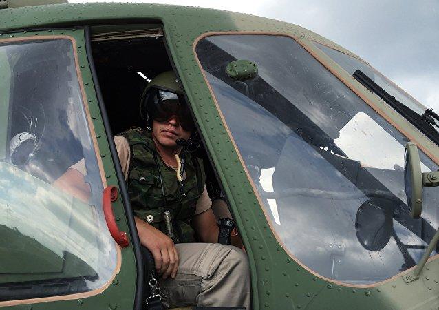 Piloto ruso en la base aérea de Hmeimim, Siria