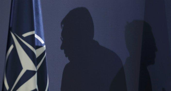 Siluetas del presidente serbio, Aleksandar Vucic, y el secretario general de la OTAN, Jens Stoltenberg (archivo)