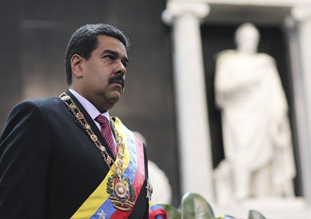 Nicolás Maduro, presidente de Venezuela, durante la conmemoración del aniversario de la muerte del libertador Simón Bolívar (archivo)