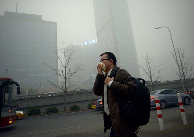 Contaminación en Beijing, China