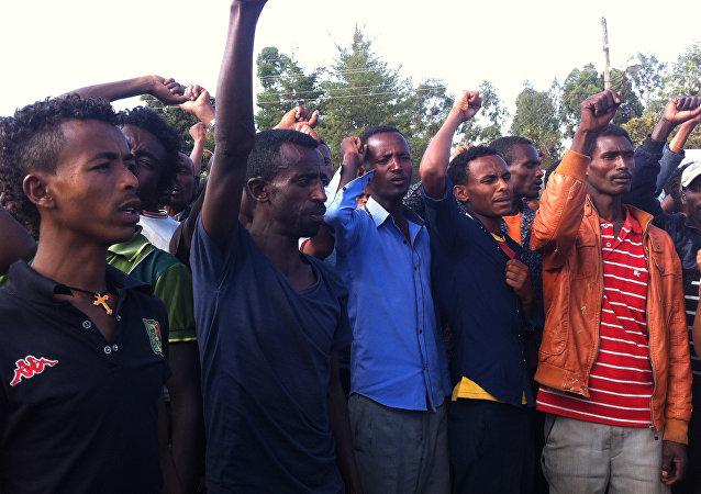 Manifestación de protesta en Etiopía (archivo)