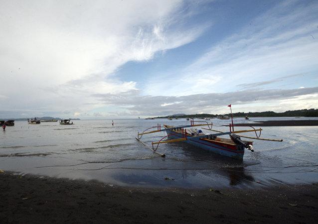 La isla indonesia de Sulawesi (ilustración)