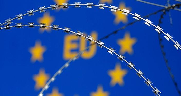 Signo en la frontera de la UE (archivo)