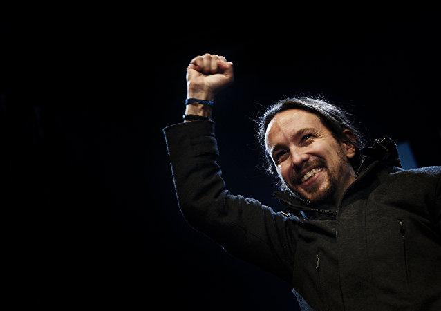 Pablo Iglesias, líder del partido de izquierda español Podemos (archivo)