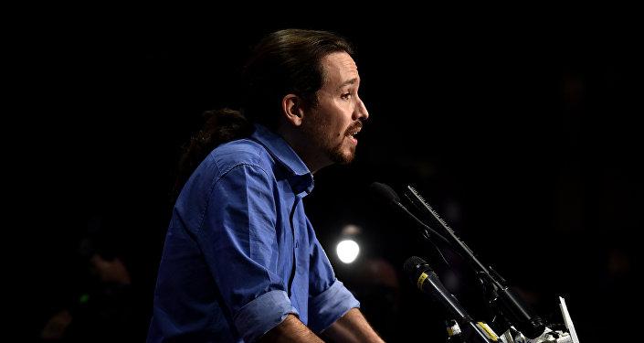 Pablo Iglesias, líder del partido de izquierda Podemos
