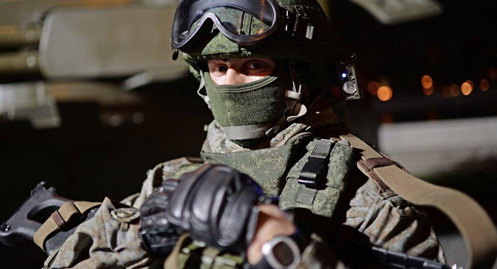 Participante de unos  juegos militares