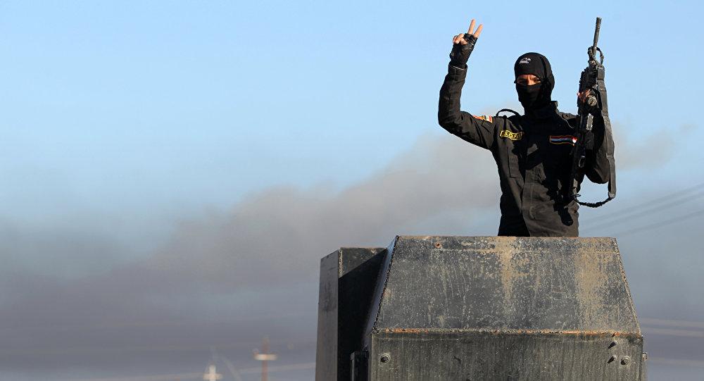 Miembro de las Fuerzas antiterroristas iraquíes en Ramadi