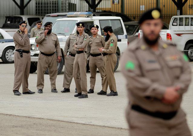 Policías de Arabia Saudí (archivo)