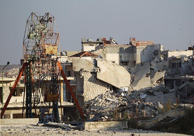 Parque de atracciones destruido en Idlib, Siria