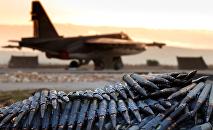 Caza ruso en la base aérea de Hmeymim en Siria