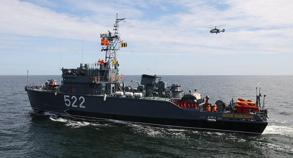 Maniobras navales de la Flota del mar Báltico