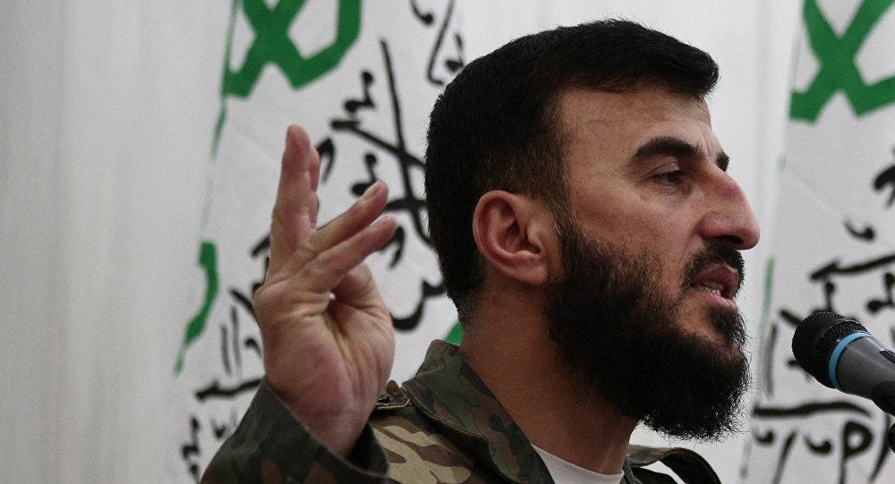 Zahran Alloush, líder del grupo terrorista Jaysh al Islam