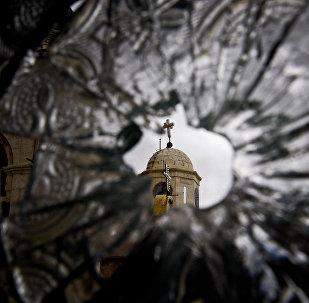 Una iglesia en Damasco destruida por los islamistas (archivo)