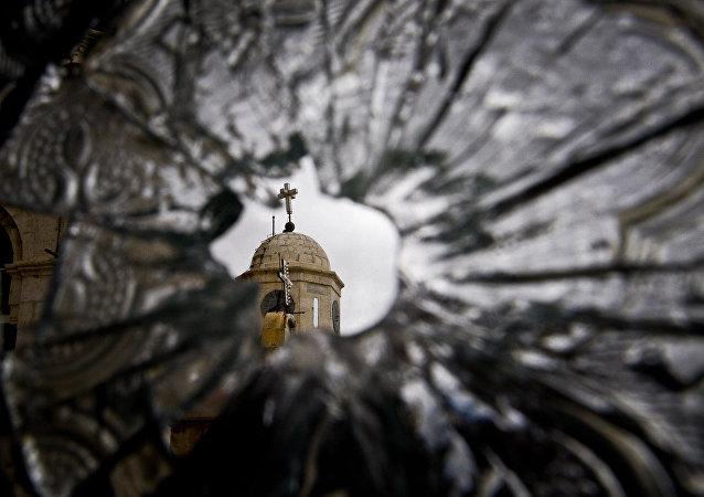 Una iglesia en Damasco destruida por los islamistas