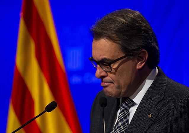 Artur Mas, expresidente en funciones del Gobierno de Cataluña