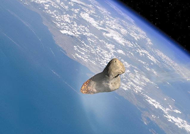 Un asteroide pasa cerca de la atmósfera de la Tierra (gráfica)