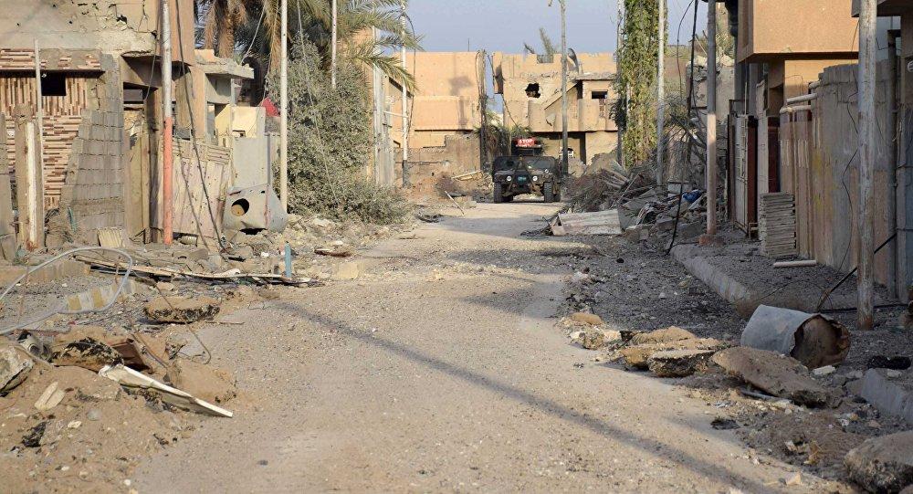 Vehículo militar iraquí en Ramadi