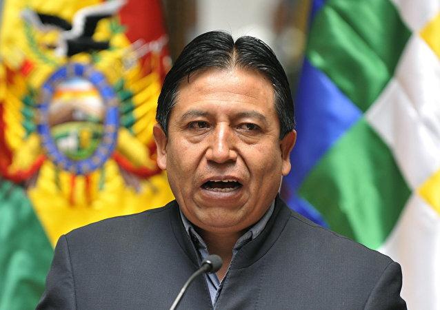 David Chuquehuanca, canciller boliviano