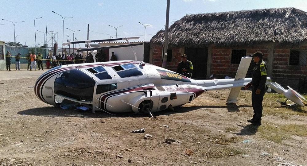 Сaída de helicóptero militar venezolano en Colombia