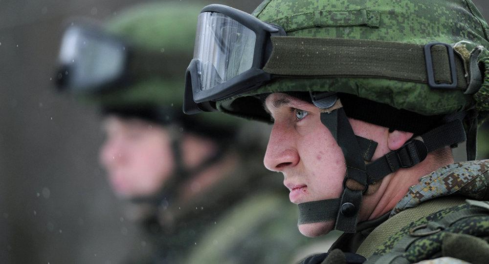 Soldado en el equipo de combate Rátnik