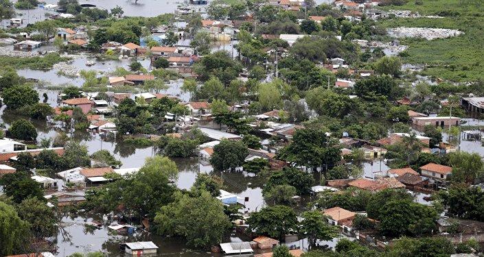 Inundaciones en Paraguay (archivo)