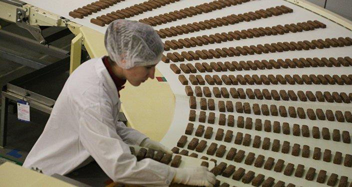 Fábrica de chocolate en Rusia