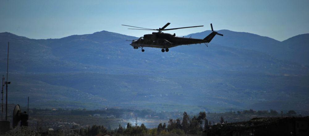 Helicóptero ruso Mi-24 en Siria