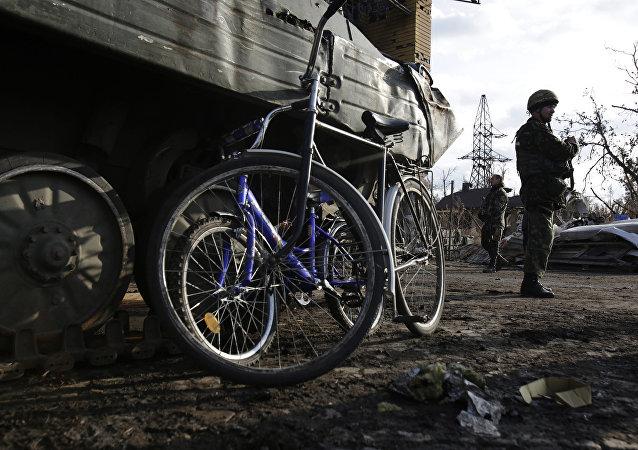 Militares ucranianos en la región de Donetsk