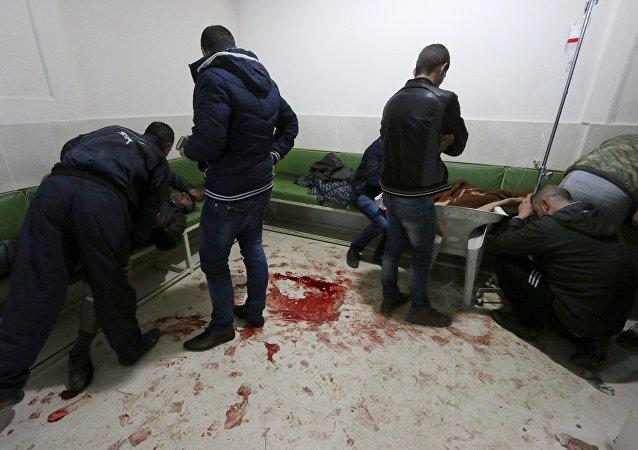 Personas heridas en el hospital de Qamishli