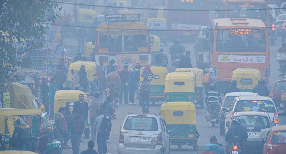Contaminación de aire en Nueva Delhi, India