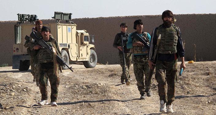 Soldados del Ejército Nacional Afgano