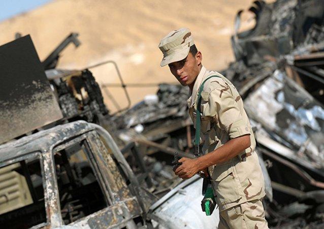 Un militar egipcio (archivo)
