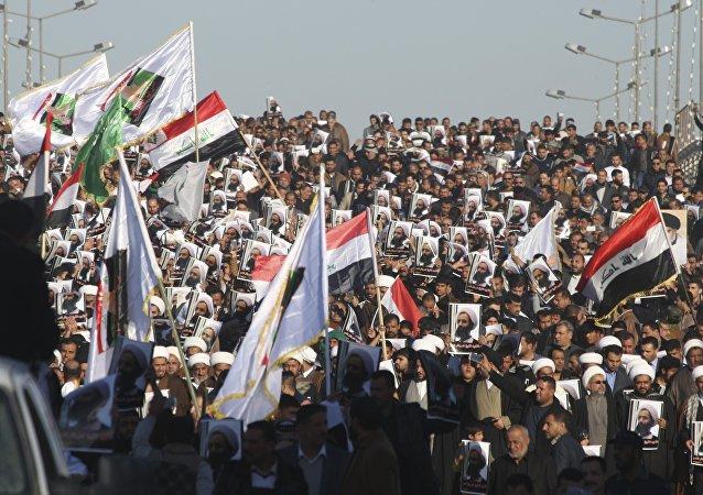 Manifestaciones en Irak tras la ejecución del clérigo chií, Nimr al Nimr, en Arabia Saudí