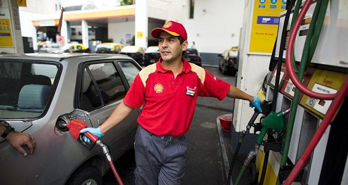 Gasolinera en Argentina