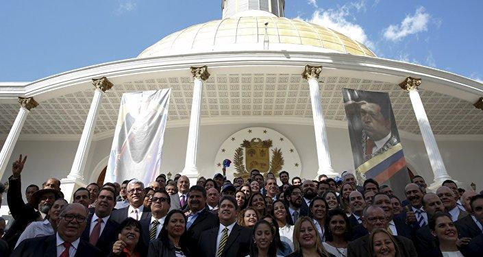 Diputados de la MUD frente a la Asamblea Nacional (archivo)
