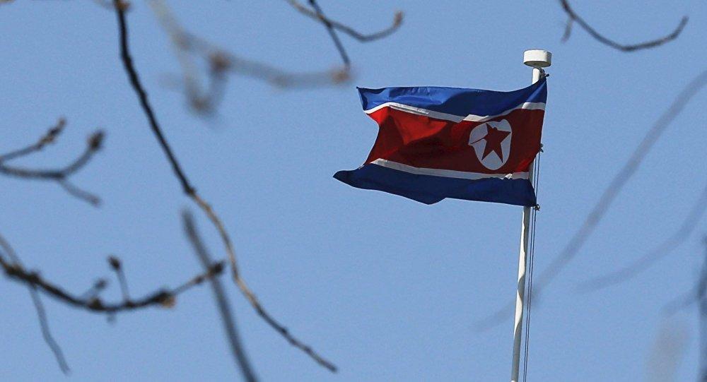 Bandera de Corea del Norte (archivo)