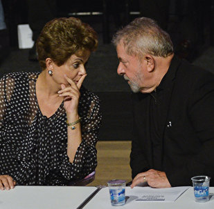 Los ex presidentes brasileños Luiz Inácio Lula da Silva y Dilma Rousseff